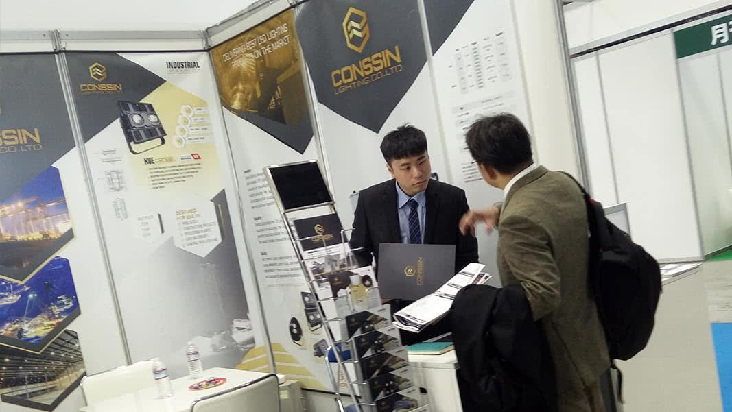 Conssin Lighting LED stand at Tokyo Lighting Expo 2017